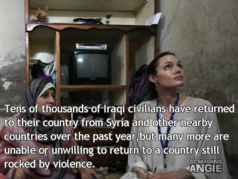 Angelina Jolie in Syria : urges the world not to forget Iraqi refugees 2009