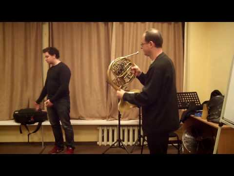 Master-class of professor Esa Tapani. French Horn.