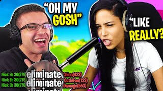 Nick Eh 30 and Chica get STREAM SNIPED [Fortnite Battle Royale]