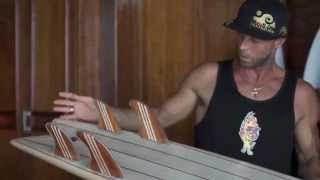 Riley Balsa wood surfboard test ride RIP fish