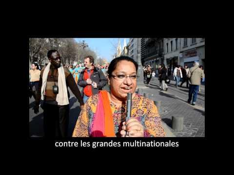 Manifestation défense Eau publique Marseille le 17.03.12