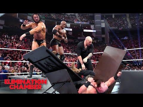 Drew McIntyre & Bobby Lashley viciously assault Braun Strowman: WWE Elimination Chamber 2019