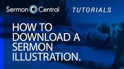 How to download Sermon Illustrations | Tutorial Video | SermonCentral