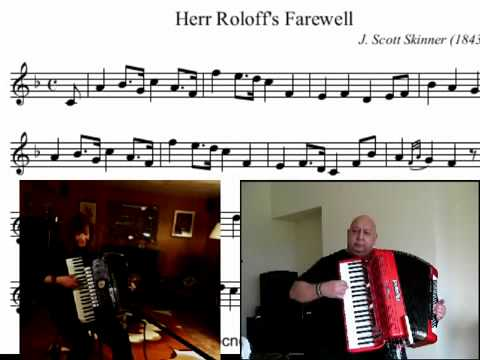 Chords for Herr Roloff's Farewell - a Scottish fiddle