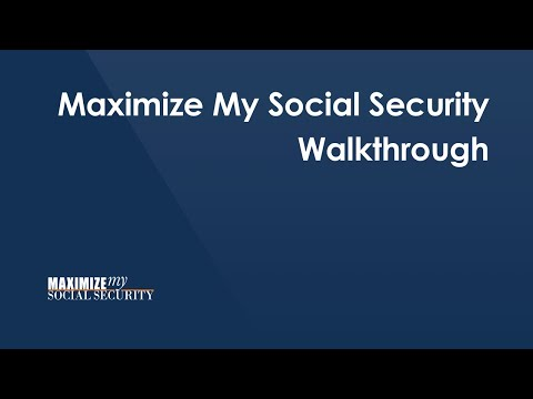 Introduction to Maximize My Social Security