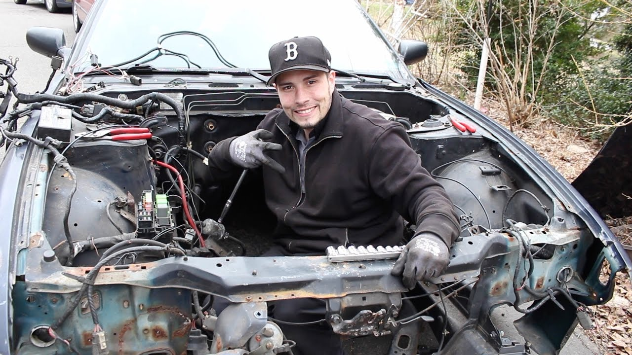 small resolution of going through the engine bay on my s13 wiring harness issues