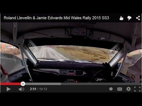 Roland Llewellin & Jamie Edwards Mid Wales Rally 2015 SS3