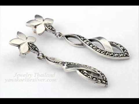 Silver 925 marcasite jewelry wholesaler from thailand