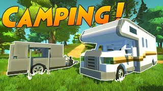 PISTON RV and POP-UP CAMPER WITH TRUCK! - Scrap Mechanic Creations! - Episode 105
