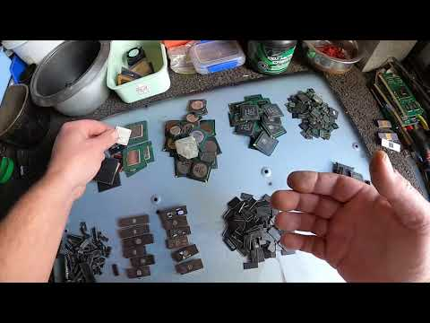 How I sort Gold, Palladium, Silver and Precious Metals after depopulating boards