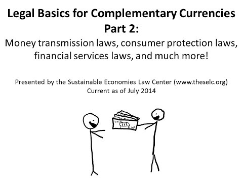 Part 2: Legal Basics for Complementary Currencies