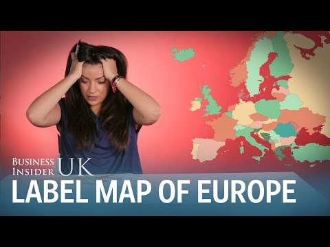 Brits fail to label a map of Europe