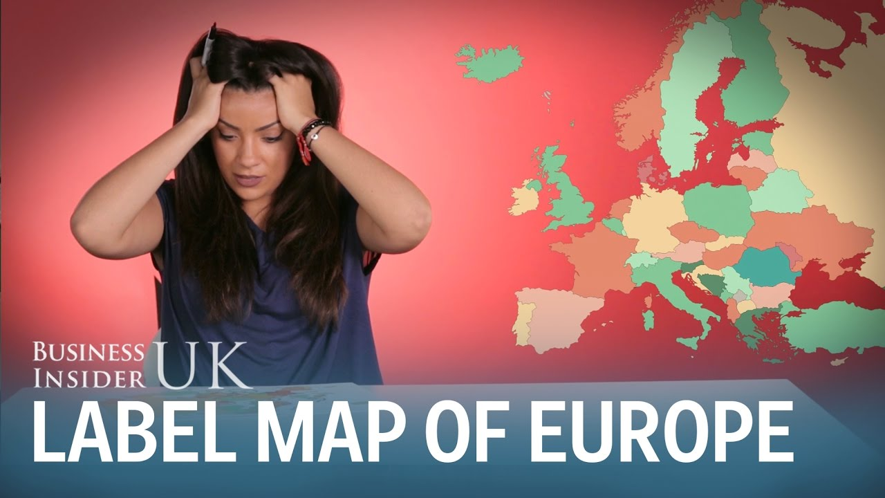 Label A Map Of Europe.Brits Fail To Label A Map Of Europe Youtube