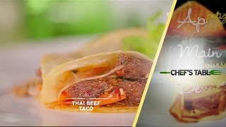 Dessert - Thai Beef Taco