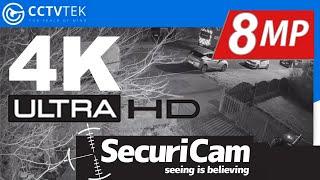 SECURICAM 4K (8MP) ULTRA HD CCTV Camera Outdoor Footage (NIGHT)