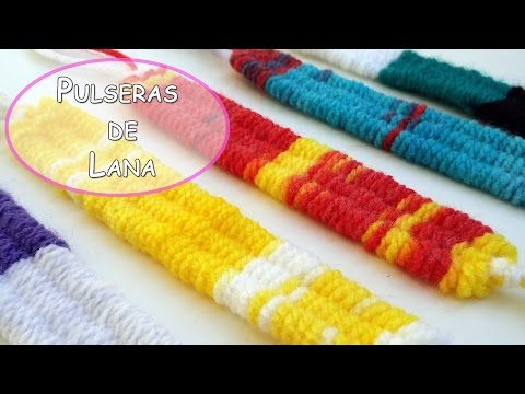 Manualidades como hacer pulseras de lana con tres - Como hacer farolillos de feria ...