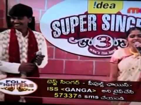 Idea Super Singer Ravi and Ganga Duet.flv
