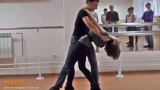 Парный танец Хастл - Выступление на открытом уроке - Школа танцев Драйв в Томске