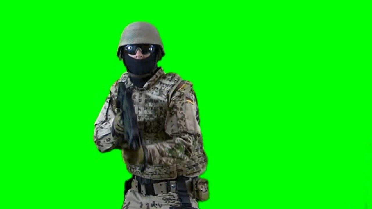 soldier on patrol - real Battlefield green screen footage 1 - free green  screen