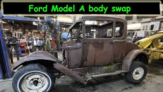 Body swapping the Ford model A sedan with the coupe body