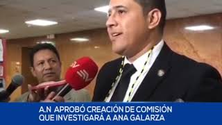 SE CONFORMÓ COMISIÓN PARA INVESTIGAR A LA ASAMBLEÍSTA ANA GALARZA