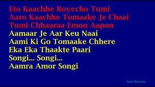 Chirodini Tumi Je Amar Lyrics in English Kishore Kumar Bangla Karaoke low