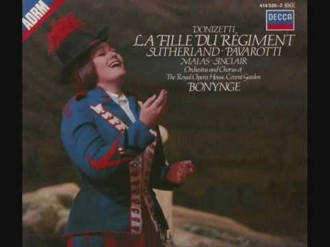 Joan Sutherland & Luciano Pavarotti. La Fille du Regiment. Donizetti.