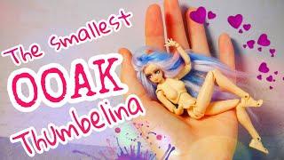 The smallest OOAK Thumbelina SHFiguarts body chan ooak doll GearBest