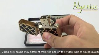 Unboxing Zippo 28675 Chain Link Fence Design, High Polish Brass