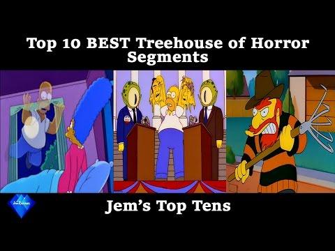Top 10 BEST Treehouse of Horror Segments