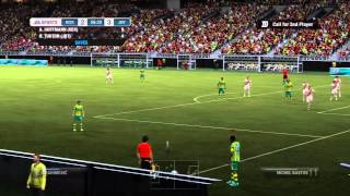 FIFA 12 : AMAZING Flying Scorpion Kick from Corner! - Set Piece Goal
