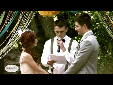 Brooke and Danny's Vintage Carnival wedding ceremony.