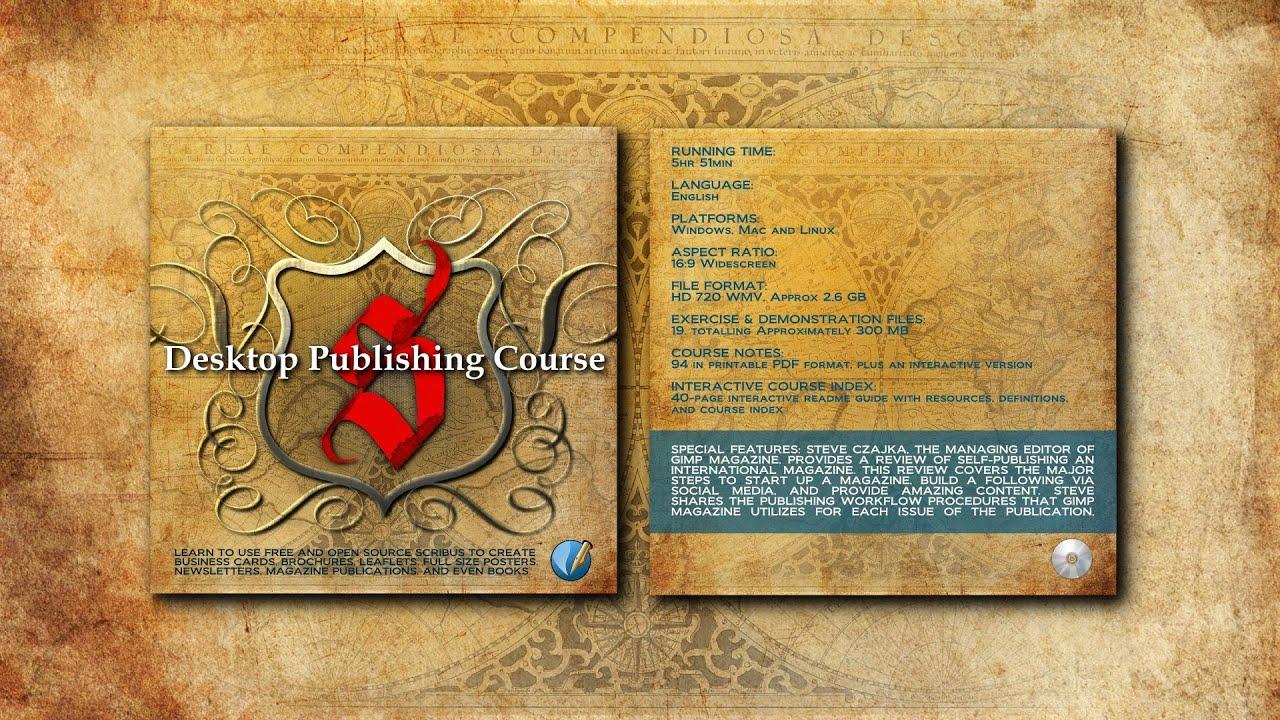 Desktop Publishing Course Using Scribus