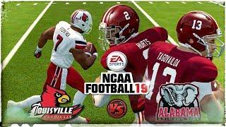 NCAA Football 19 4K | Louisville vs #1 Alabama Tua & Jalen QB Controversy (NCAA 14 Updated Rosters)