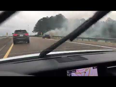 Car fire slows traffic on interstate
