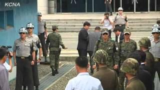 【北朝鮮】汎民連南側本部副議長、板門店分離線を越えて帰途へ