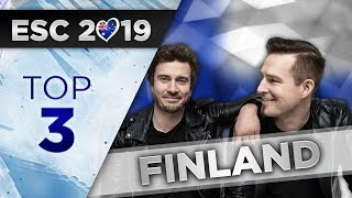 Top 3 - Finland Eurovision 2019 (UMK Darude)