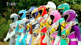Могучие рейнджеры Дино супер заряд превращение всех 10 рейнджеров