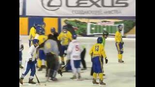 Гол Украины в матче с Монголией на ЧМ по хоккею с мячом и драка