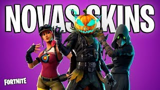 FORTNITE-NEW SKINS, DANCES and HALLOWEEN ITEMS!
