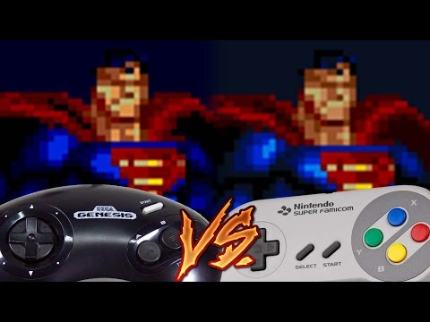 Sega Genesis Vs Super Nintendo - The Death and Return of Superman