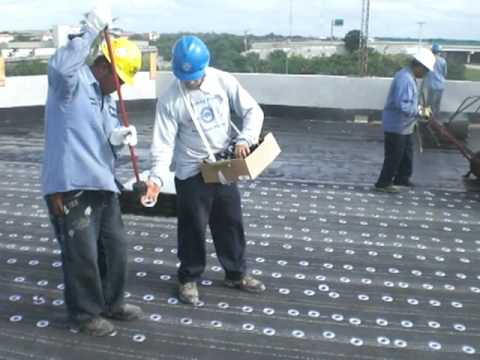 Base Ply Fastening To Lightweight Concrete Deck Youtube