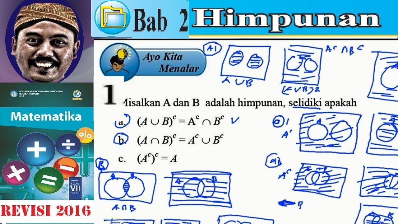 Himpunan Matematika Kelas 7 Bse Kurikulum 2013 Revisi 2016 Himpunan Komplemen Youtube