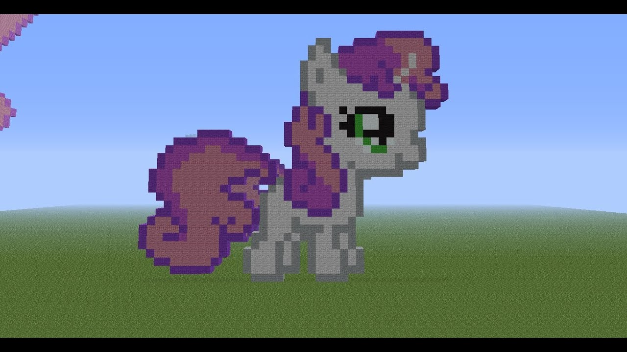 Minecraft Pixel Art Tutorial 40 Sweetie Belle YouTube