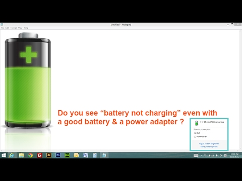 Laptop Battery Not Charging in Windows 10, 7, 8, 8 1, XP