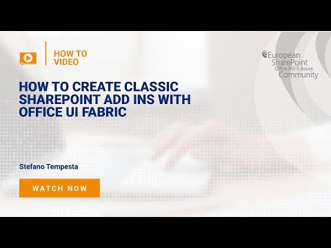 How To Create Classic SharePoint Add ins with Office UI Fabric - YouTube