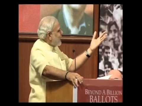 modi speech on  what is good governance