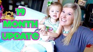 19 MONTH UPDATE! - Using short sentences & Becoming a toddler!