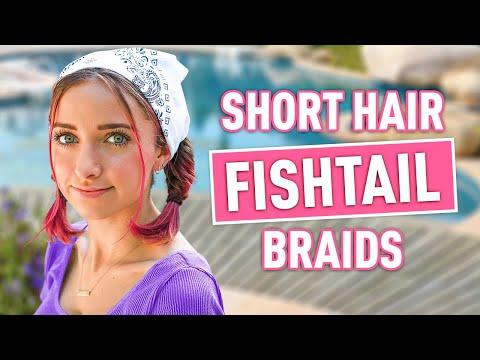 bailey's-mini-fishtail-braids-|-diy-bandana-hairstyle-for-short-hair