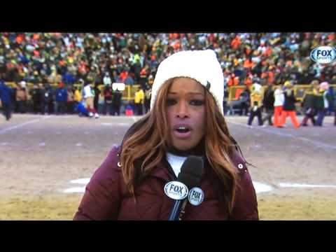 Pam Oliver - Pre-Game Sideline Report - Green Bay vs San Fr